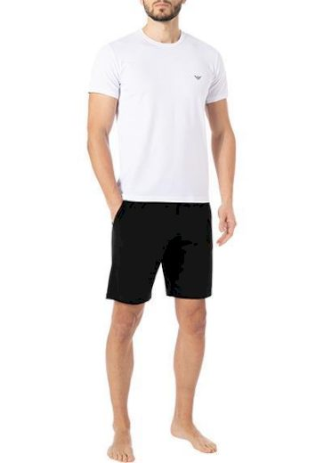 Pánské pyžamo 111573 1P720 11010 černo/bílé - Empori Armani