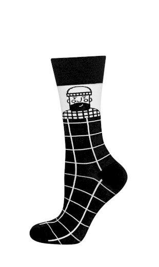 Pánské ponožky Soxo Good Stuff černo-bílé