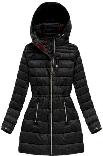 Černá prošívaná bunda typu