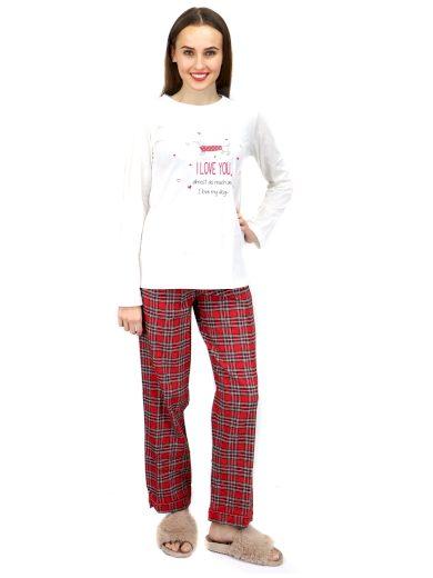 Dámské triko na spaní LA2031PB bílá - Noidinotte