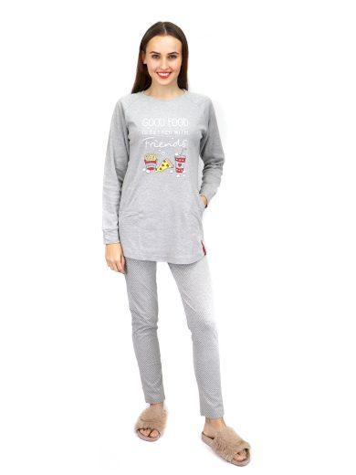 Dámské pyžamo FA6881PB šedá - Noidinotte