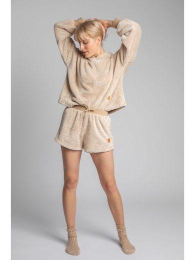 Chlupaté pyžamové šortky LA005