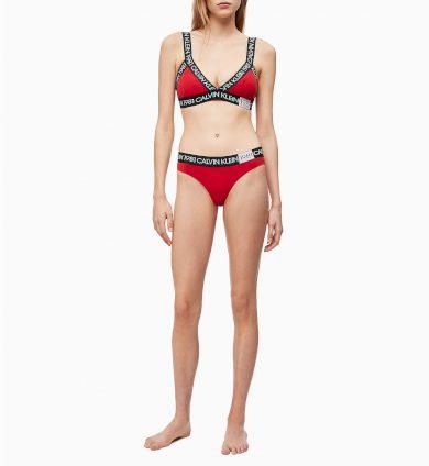 Podprsenka bez kostice QF5447E-3YQ červená - Calvin Klein