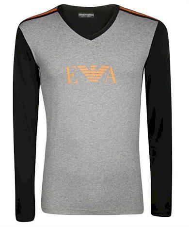 Pánské tričko 111855 9A529 06749 černošedá - Emporio Armani