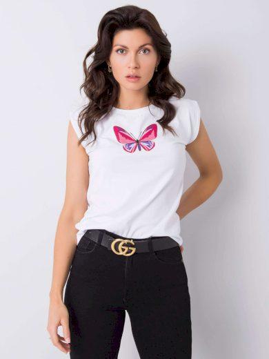 Dámské bavlněné tričko s potiskem 6394 - FPrice