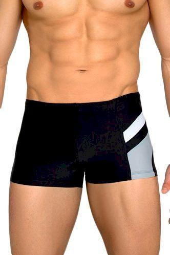 Pánské plavky boxerky Brando černošedé