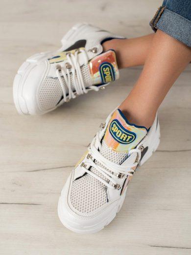 Originální dámské  tenisky bílé bez podpatku