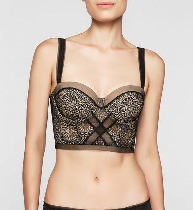 Podprsenka korzetová QF1876E Black Endless - Calvin Klein