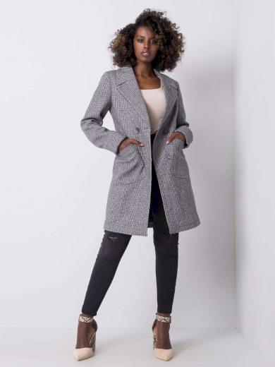 Dámský kostkovaný kabát 2701 - FPrice