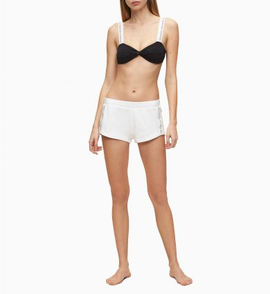 Dámské šortky KW0KW01004-YCD bílá - Calvin Klein