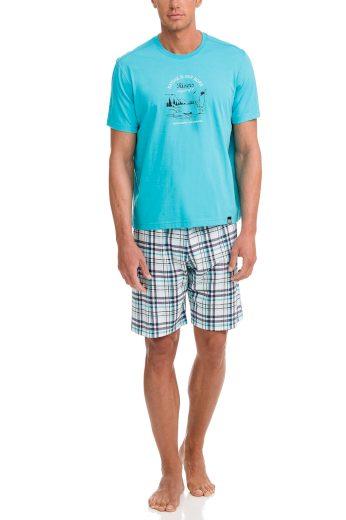 Pánské pyžamo 12722-282 modrobílá - Vamp