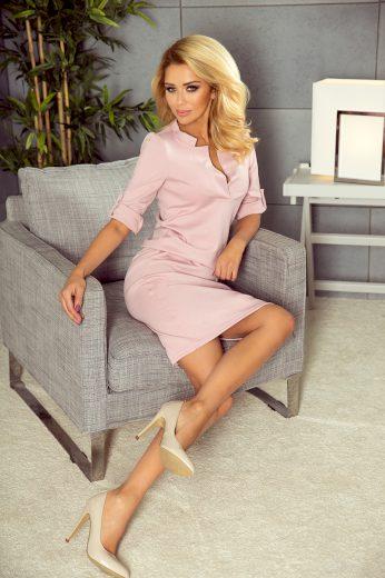 Špinavě růžové šaty s límečkem model 5537666