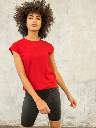 Dámské červené tričko FOR FITNESS