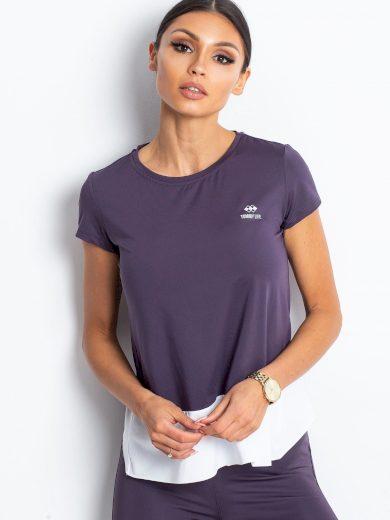 Tmavě fialové sportovní tričko od TOMMY LIFE