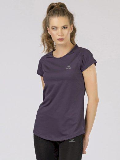 Dámské fialové sportovní tričko TOMMY LIFE