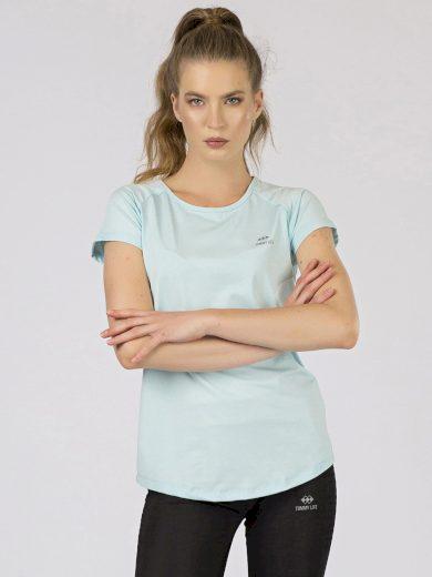 Dámské sportovní tričko světle modré TOMMY LIFE
