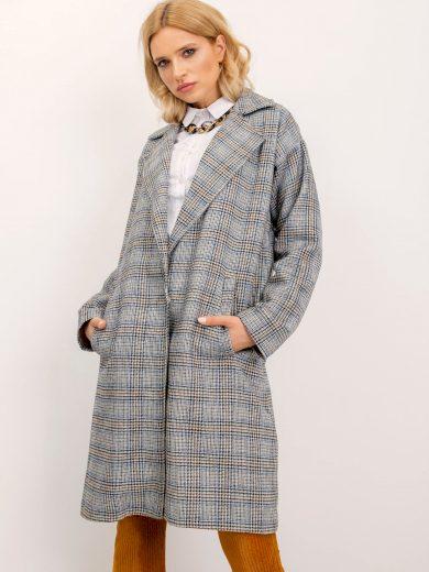 Šedý kostkovaný kabát BSL