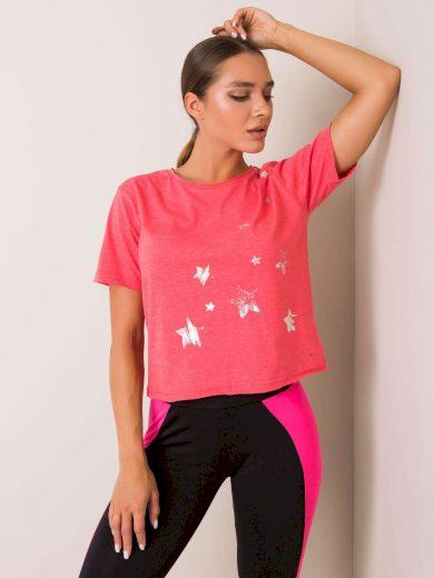 PRO FITNESS Korálově červené dámské tričko