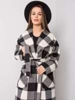 Černobílý kostkovaný kabát