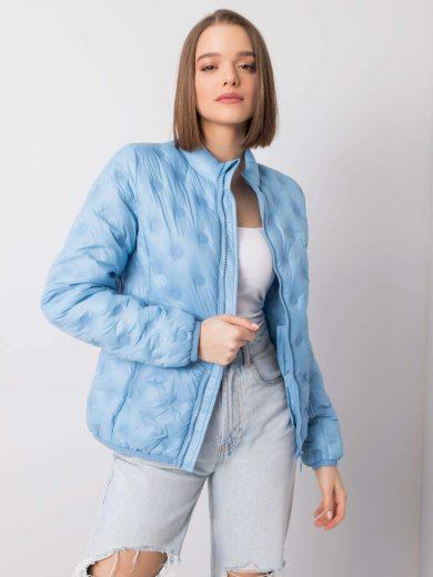Světle modrá přechodová bunda bez kapuce