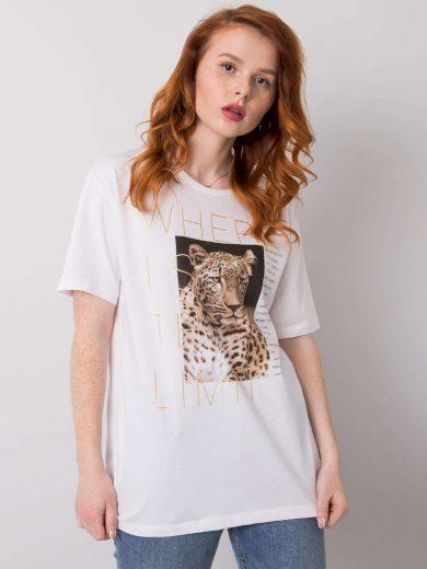 Bílé tričko se zvířecím potiskem