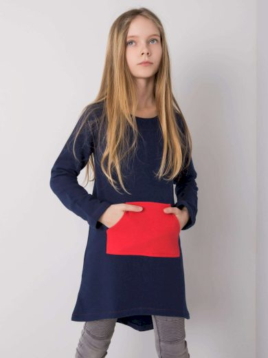DODO KIDS Tmavě modrá tunika pro dívku