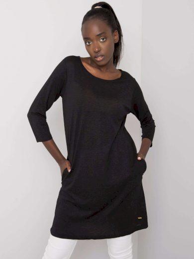 Černá bavlněná tunika