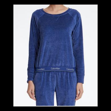 Dámská mikina QS6146E-6YN modrá  - Calvin Klein