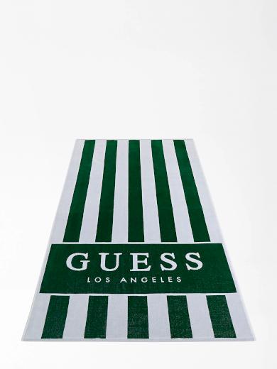 Plážová osuška F02Z01SG00L-P8F7 zelenobílá - Guess