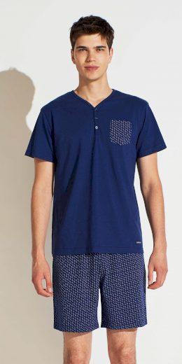 Pánské pyžamo FC2148PB tmavěmodrá - Noidinotte