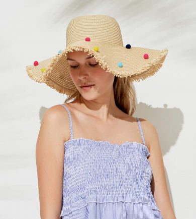 Slaměný plážový klobouk TR486 - Noidinotte