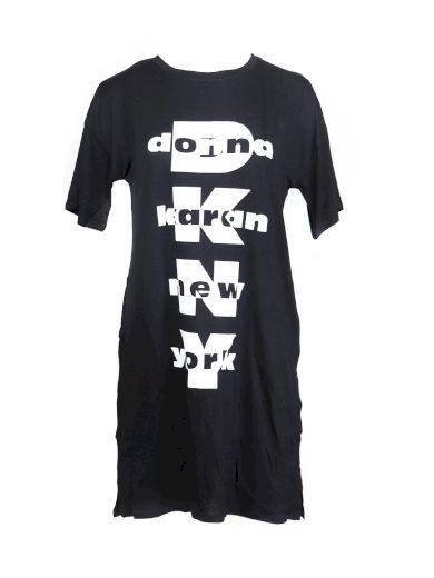 Dámská noční košile YI2322403-001 černobílá - DKNY