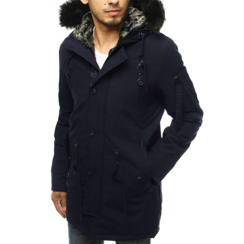 Pánská bunda parka zimní modrá tx3490