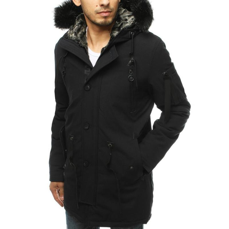 Pánská bunda parka zimní černá tx3489
