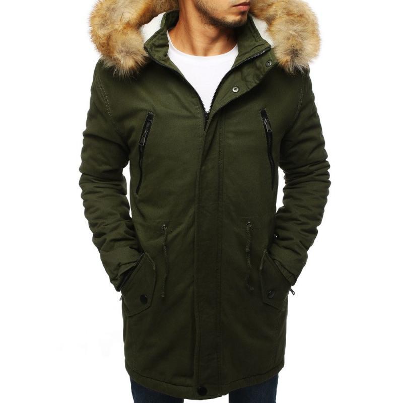 Pánská STYLE bunda parka zimní - zateplená khaki