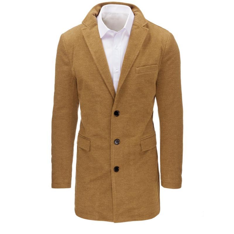 Karamelový pánský kabát