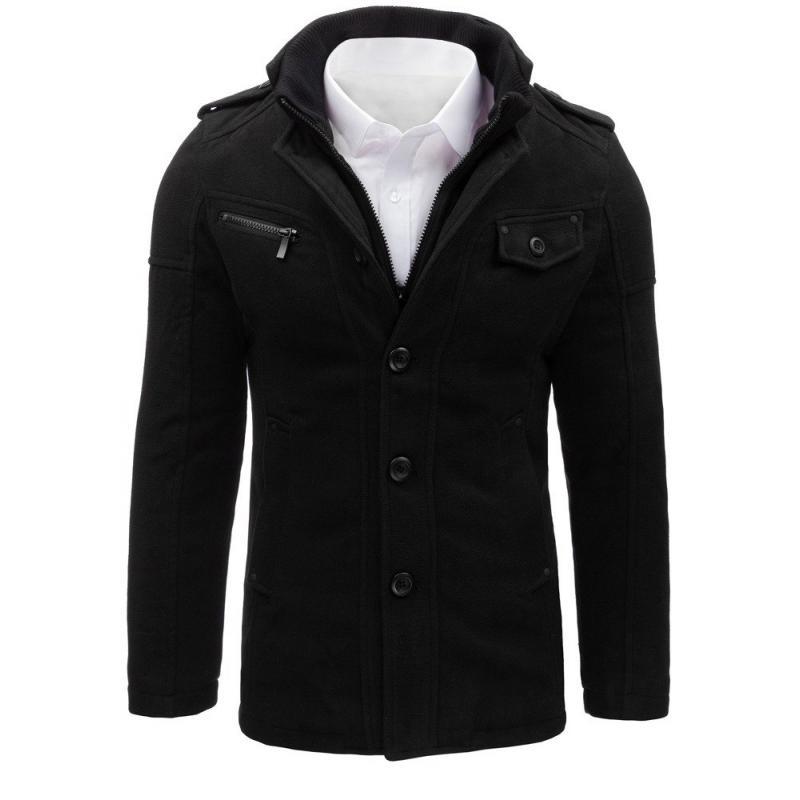 Pánský kabát stylový černý