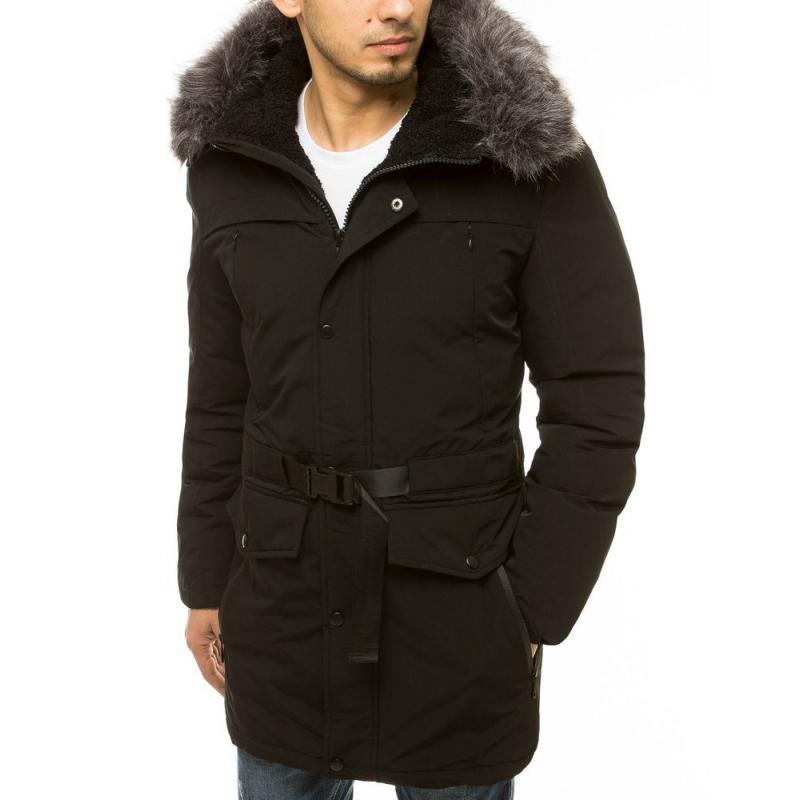 Pánská zimní bunda s kapucí černá tx3610