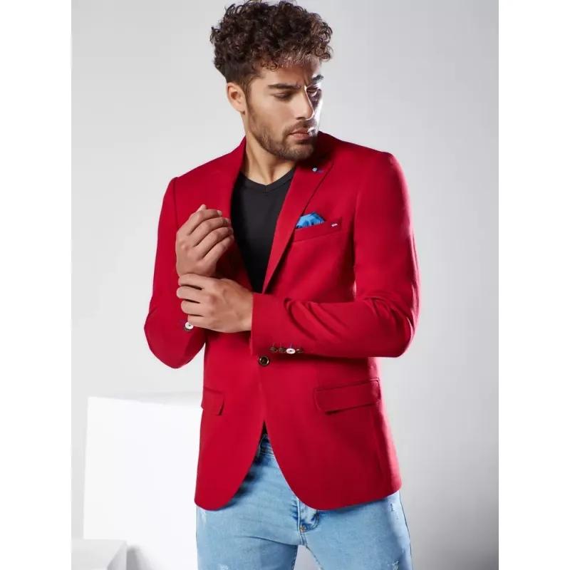 Pánské sako červené MODERN
