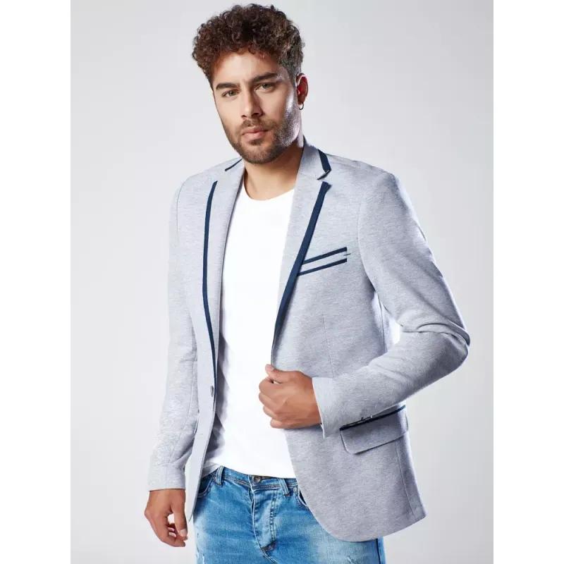 Pánské sako šedé MODERN