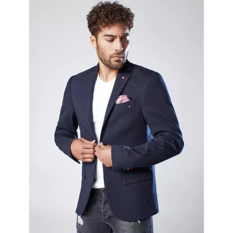 Pánské sako tmavě modré MODERN