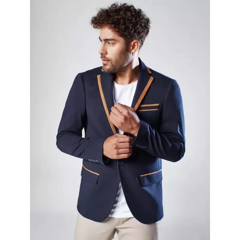 Pánské sako modré FIT