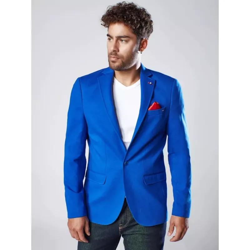 Pánské sako světle tmavě modré SOCIAL