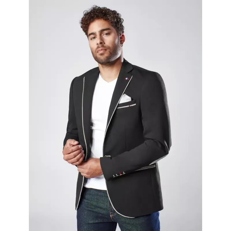 Pánské sako černé TRIM
