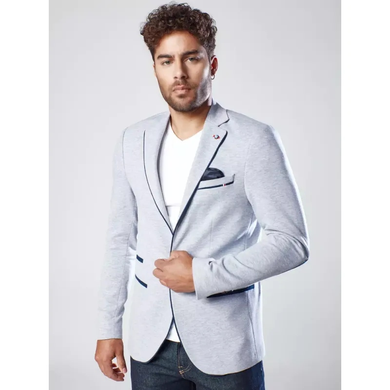 Pánské sako šedé TRIM