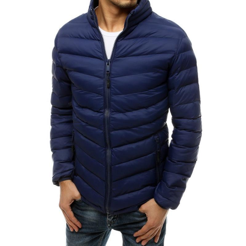 Pánská zimní bunda prošívaná modrá GEO