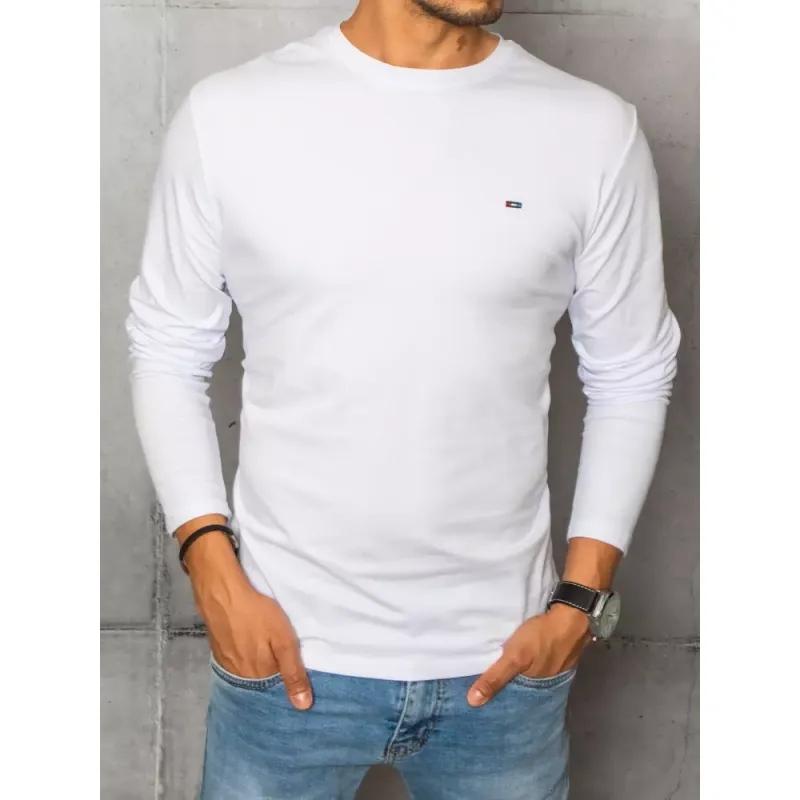 Pánské tričko s dlouhým rukávem bílé