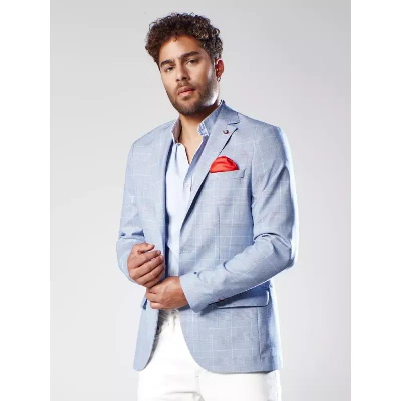 Pánské stylové sako nebesky modré