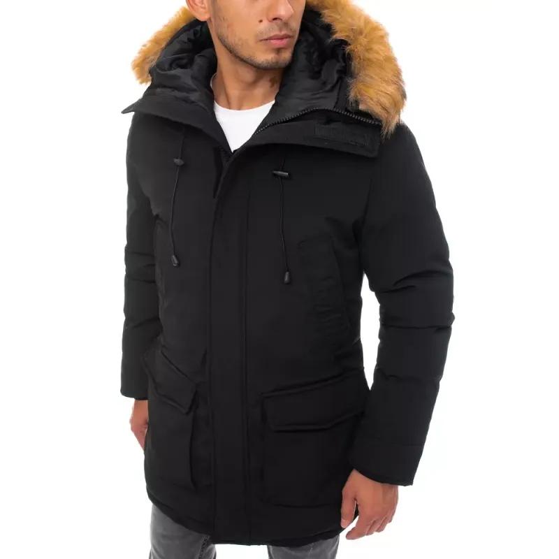 Pánská zimní parka s kapucí  černá JOY
