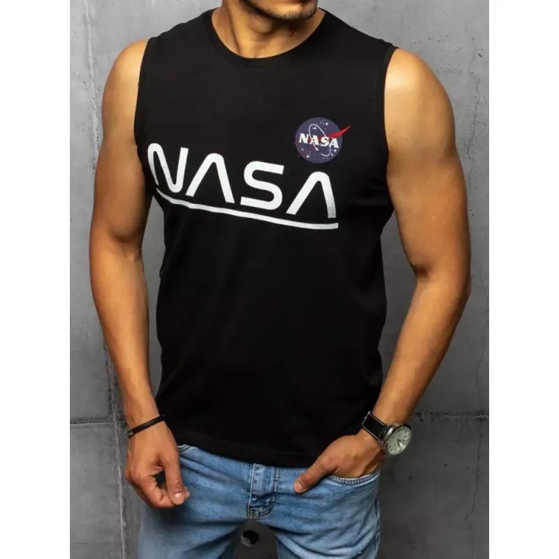 Pánský nátělník s potiskem černý NASA